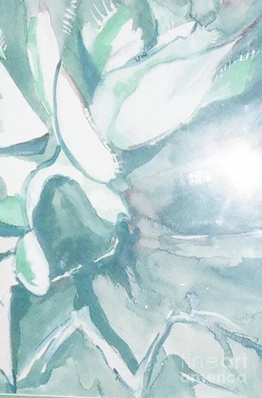 Plant Art Print featuring the painting Desert Plant by Ubelia Vasquez