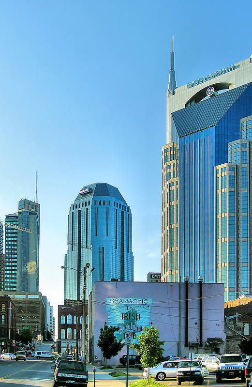 City Art Print featuring the photograph Downtown Nashville II by Steven Ainsworth