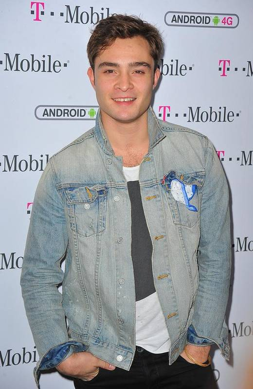 Ed Westwick Print featuring the photograph Ed Westwick At Arrivals For T-mobile by Everett