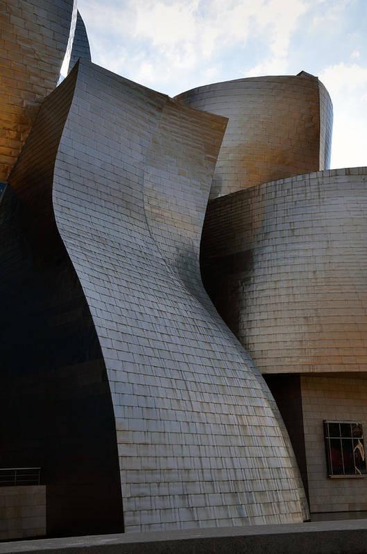 Guggenheim Art Print featuring the photograph Guggenheim Museum Bilbao - 1 by RicardMN Photography