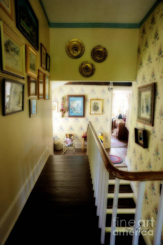 Hallway Art Print featuring the photograph Hallway In Home Of Anna Jarvis by Dan Friend