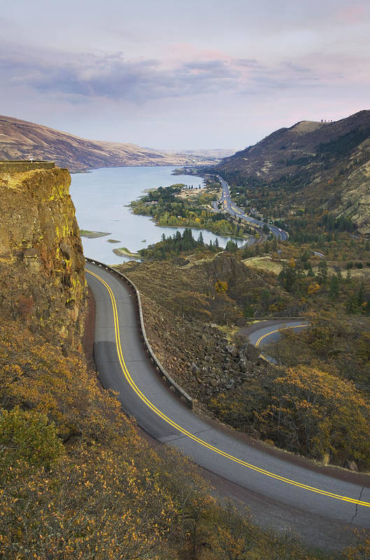 No People Print featuring the photograph Historic Columbia River Highway by Alan Majchrowicz