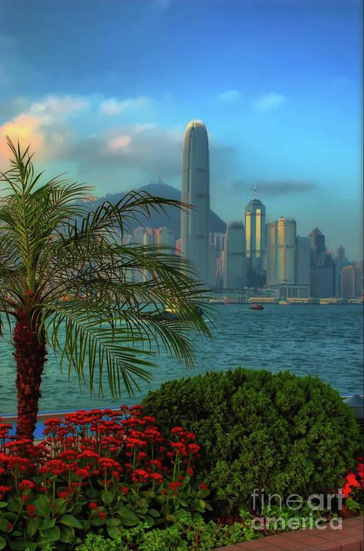 hong Kong Art Print featuring the photograph Hong Kong Mornings by Bibhash Chaudhuri