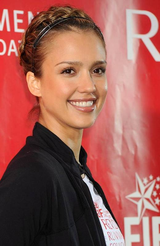 Jessica Alba Art Print featuring the photograph Jessica Alba At A Public Appearance by Everett
