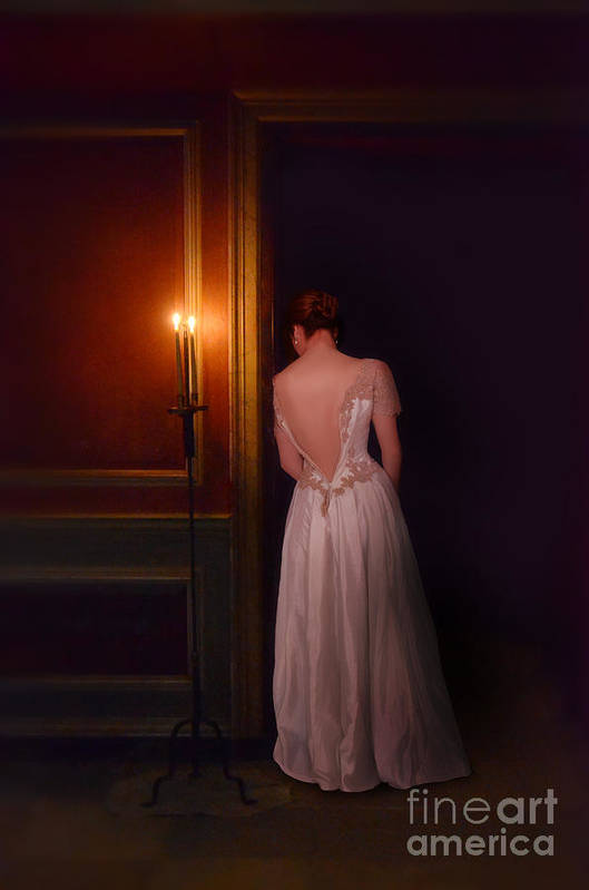 Beautiful Art Print featuring the photograph Lady In Candle Light by Jill Battaglia