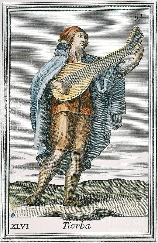 1723 Art Print featuring the photograph Lute, 1723 by Granger