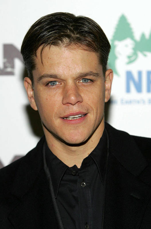 Syriana Premiere Art Print featuring the photograph Matt Damon At Arrivals For Syriana by Everett