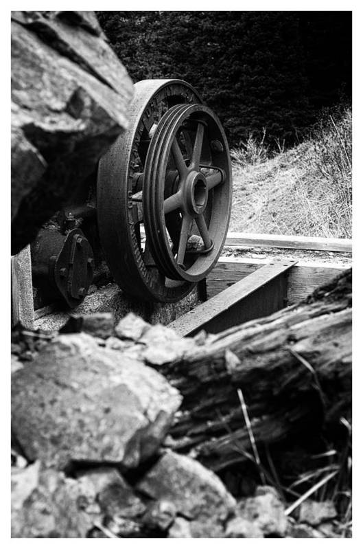 Art Photography Art Print featuring the photograph Motherlode Flywheel by Franklin Jeffers