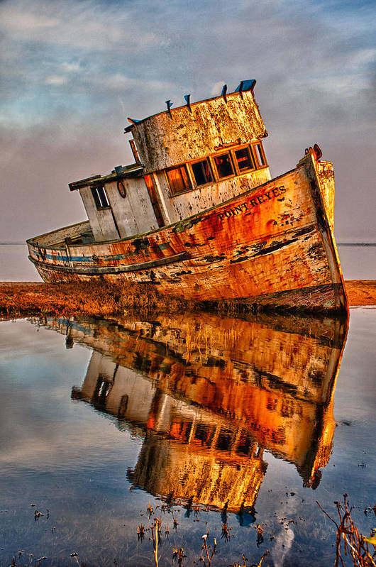 California Art Print featuring the photograph Old Point Reyes by John Klingel
