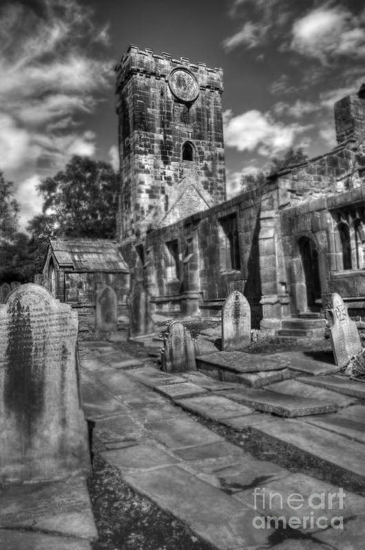 Heptonstall Art Print featuring the photograph Perditit Ecclesia Tres by John Ellison
