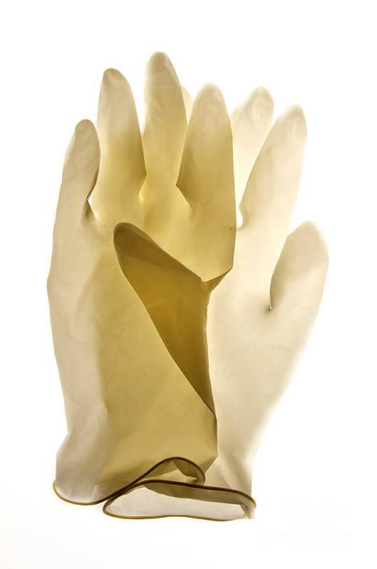 Views Art Print featuring the photograph Plastic Gloves by Bernard Jaubert