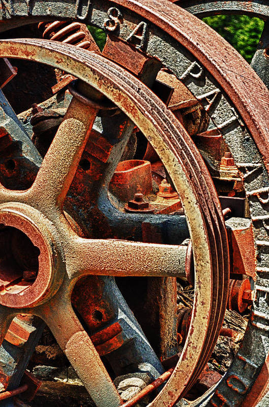Art Photography Art Print featuring the photograph Rusty Flywheel by Franklin Jeffers