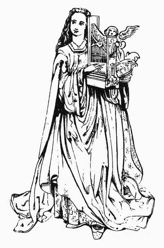 Cecilia Art Print featuring the photograph Saint Cecilia by Granger