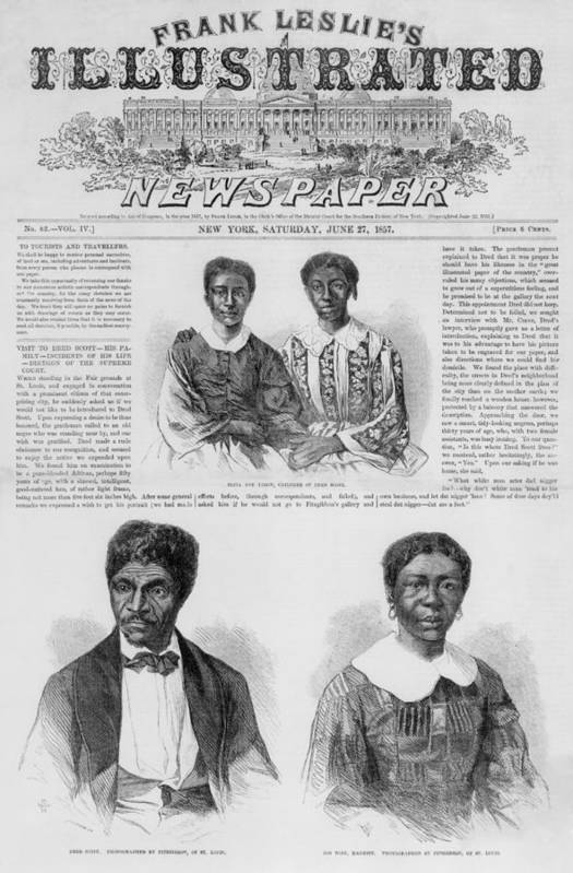 History Art Print featuring the photograph The Dred Scott Family On The Front Page by Everett