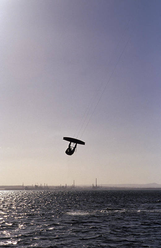 Silhouette Art Print featuring the photograph The Silhouette Of A Person Kite by Jason Edwards