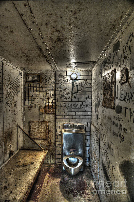 The West Virginia State Penitentiary Art Print featuring the photograph The West Virginia State Penitentiary Cell by Dan Friend