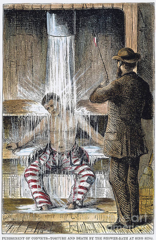 1860s Print featuring the photograph Torture At Sing Sing C1869 by Granger