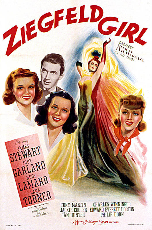 1940s Movies Art Print featuring the photograph Ziegfeld Girl, Judy Garland, James by Everett