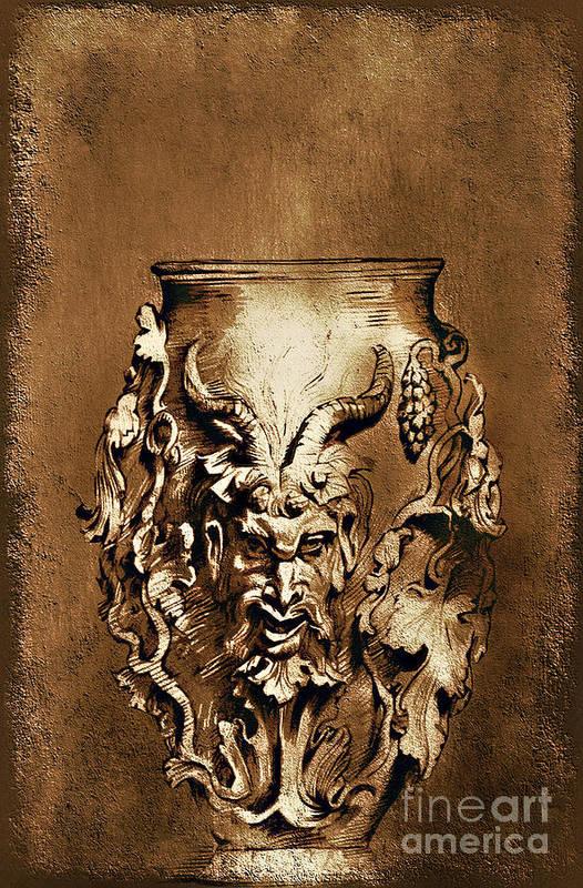 Rubens Art Print featuring the painting Dionysus.... by Andrzej Szczerski