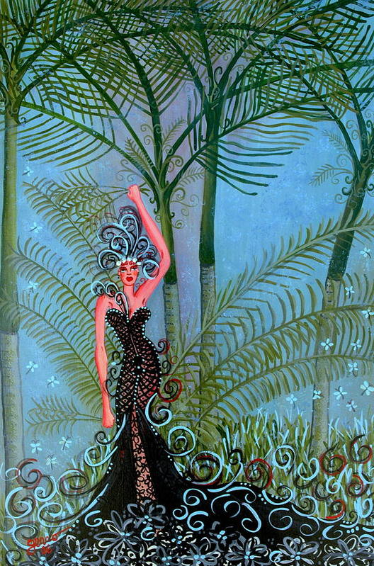 Couture Artwork Art Print featuring the painting Bayou Couture by Helen Gerro