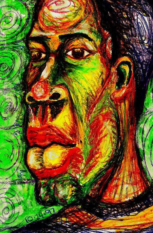 Maliksart Art Print featuring the painting Faces Unseen Series by Malik Seneferu