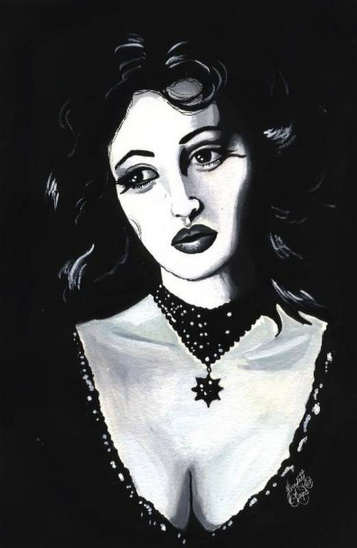 Monica Art Print featuring the painting Monica by Scarlett Royal