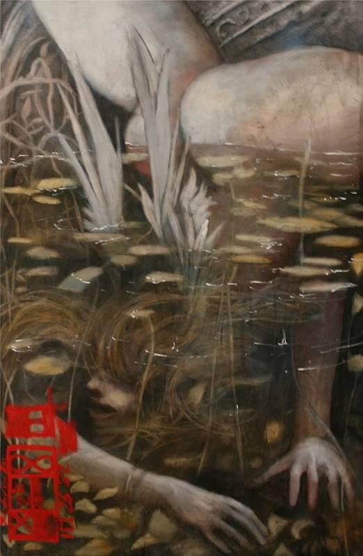 Sirens Ralph Nixon Jr Art Print featuring the painting Sirens Of The Twilight 3 by Ralph Nixon Jr