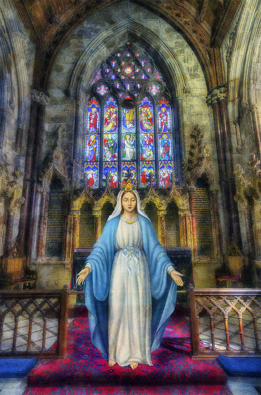 Mary Art Print featuring the photograph The Virgin Mary by Ian Mitchell