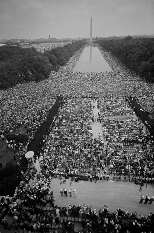 History Art Print featuring the photograph 1963 March On Washington, At The Height by Everett