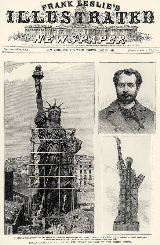1885 Art Print featuring the photograph Statue Of Liberty, 1885 by Granger