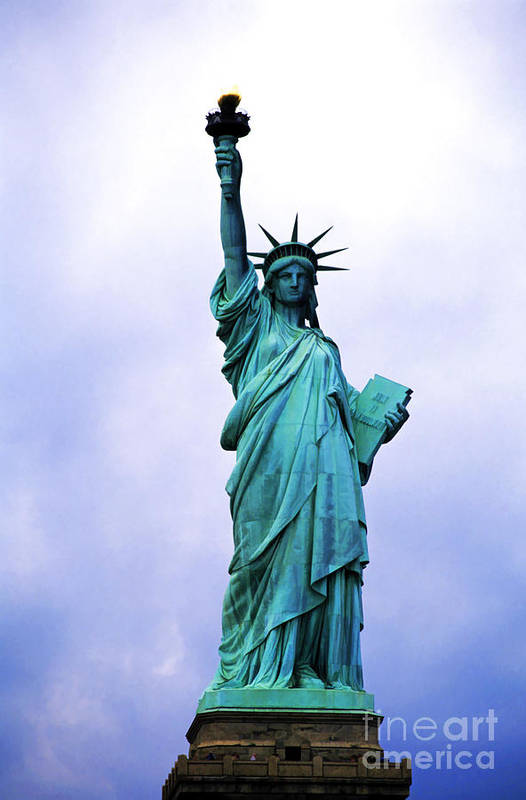 America Art Print featuring the photograph Statue Of Liberty by Sami Sarkis