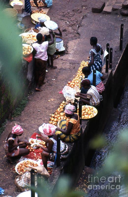 Africa Art Print featuring the photograph African Market by Erik Falkensteen