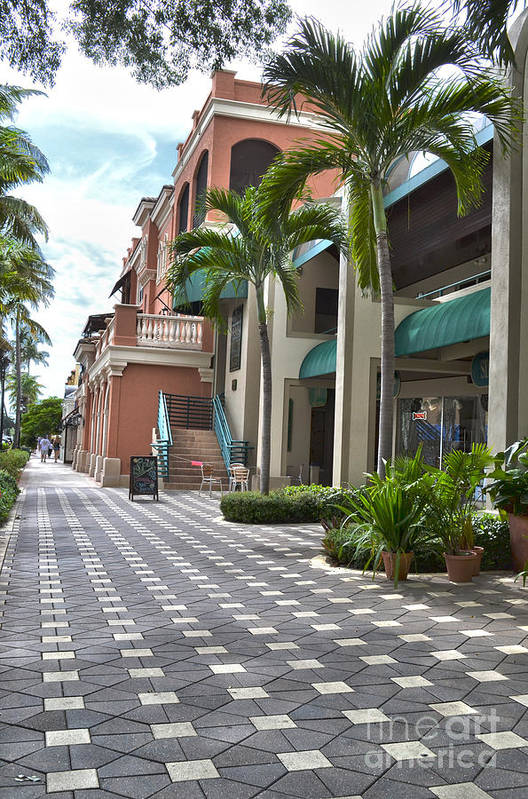Naples Art Print featuring the photograph 5th Avenue South Naples Florida by Timothy Lowry