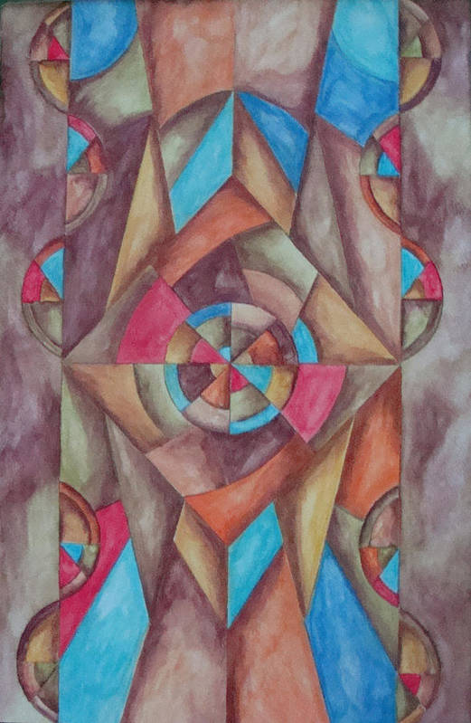 Abstract Art Print featuring the painting Abstract 1 by Jason McRoberts