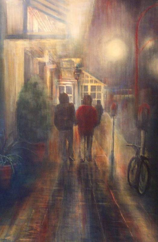 People Art Print featuring the painting After Hours by Victoria Heryet