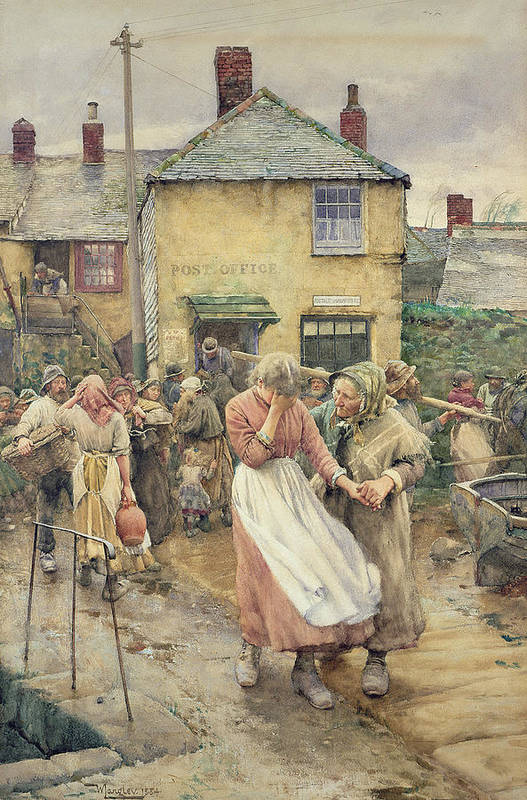 Among The Missing Art Print featuring the painting Among The Missing by Walter Langley