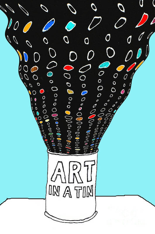 Art Art Print featuring the digital art Art In A Tin by Andy Mercer