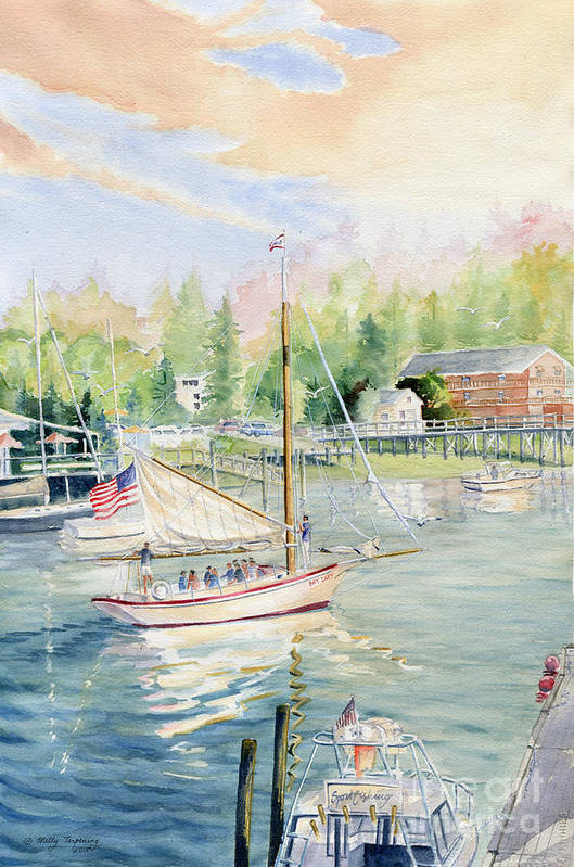 Bay Lady Art Print featuring the painting Bay Lady by Melly Terpening