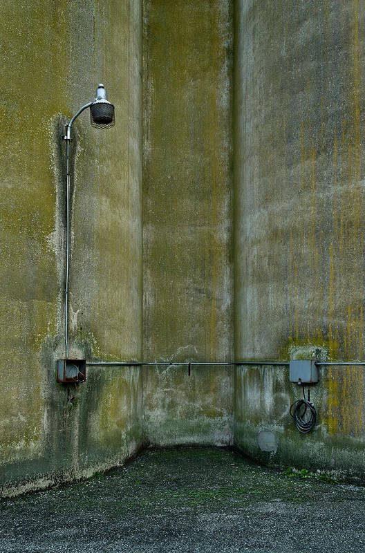 Silo Art Print featuring the photograph Between The Silos by Murray Bloom