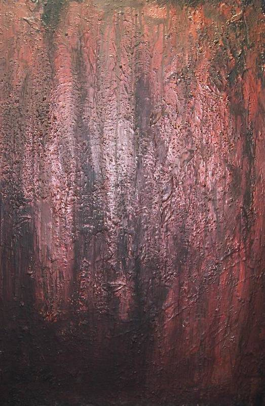 Abstract Art Print featuring the painting Black No 1 by Elizabeth Klecker