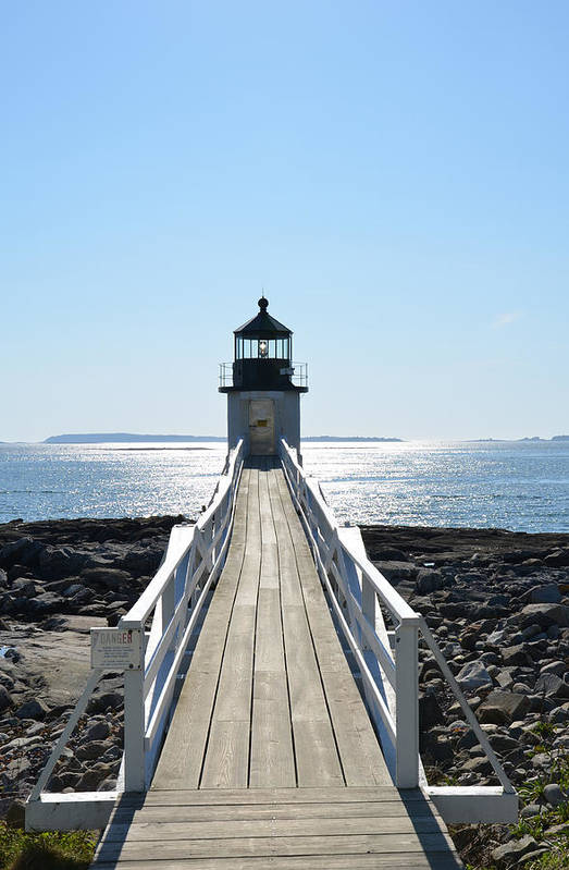 Lighthouse Art Print featuring the photograph Brilliant Light by Corinne Rhode