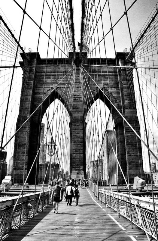 Atlantic City Art Print featuring the photograph Brooklyn Bridge 2 by Andrew Dinh