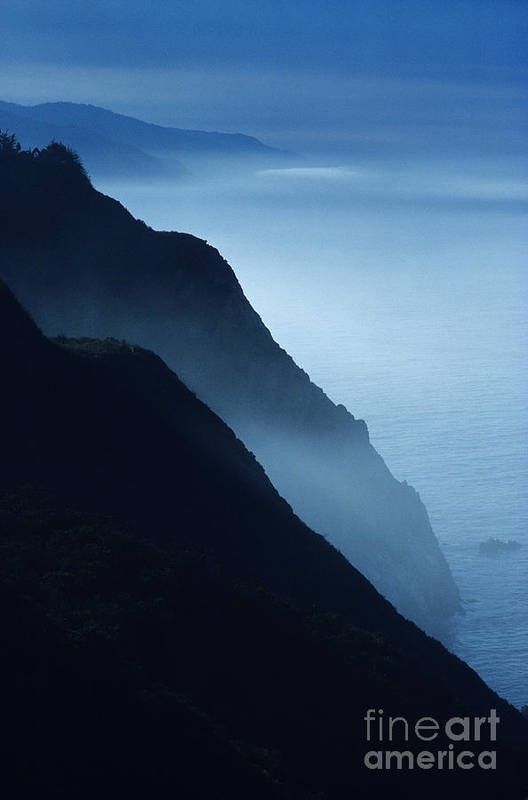 Beach Art Print featuring the photograph California Big Sur Coast by Larry Dale Gordon - Printscapes