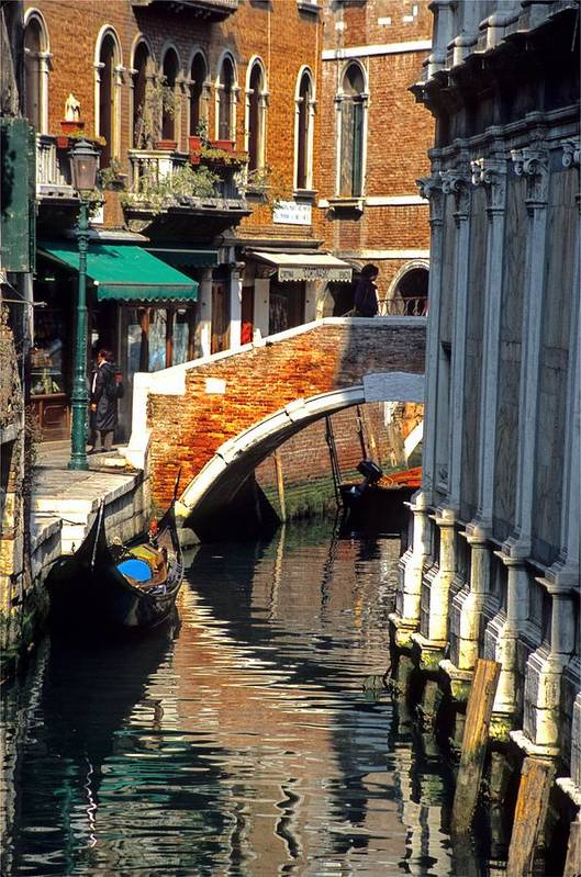 Venice Art Print featuring the photograph Canal Next To Church Of The Miracoli In Venice by Michael Henderson