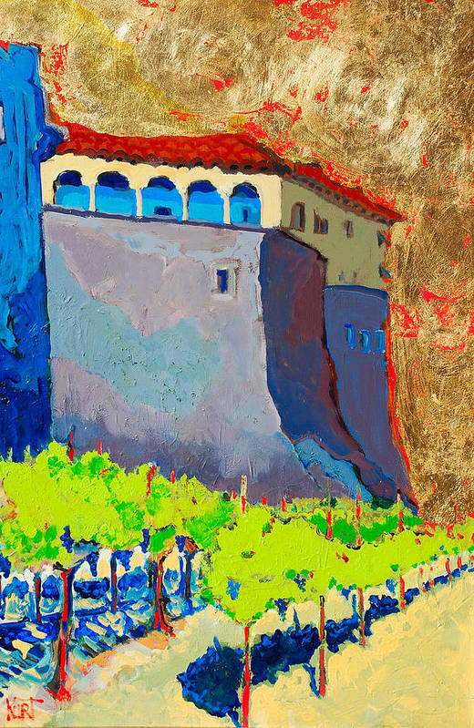 Castle Art Print featuring the painting Castello Di Villafranca by Kurt Hausmann