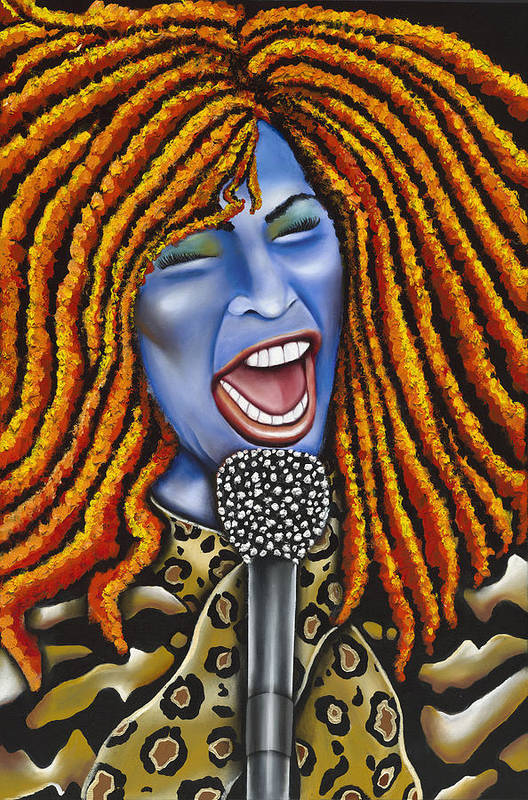 Portrait Art Print featuring the painting Chaka by Nannette Harris