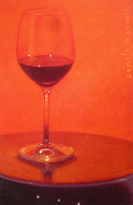 Wine Painting Art Print featuring the painting Cherry Spice by Penelope Moore