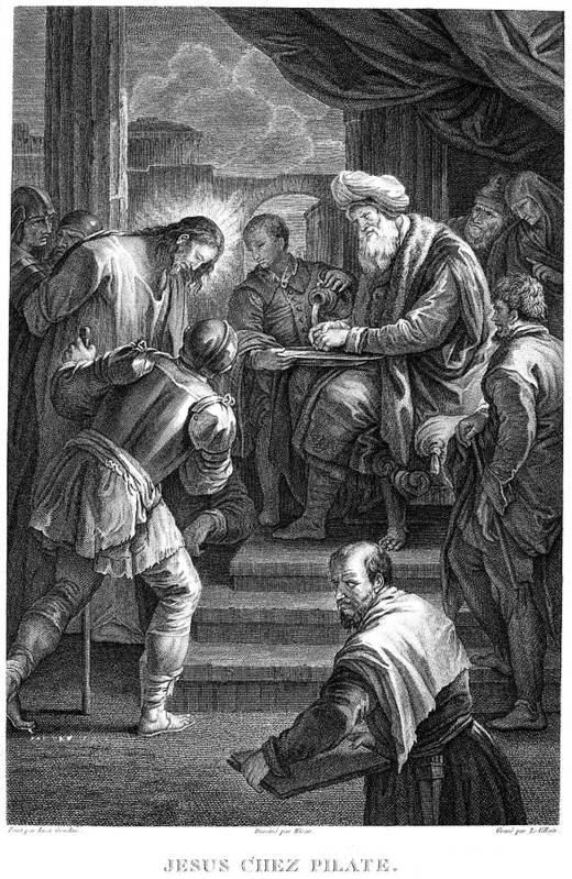 18th Century Print featuring the photograph Christ Before Pilate by Granger