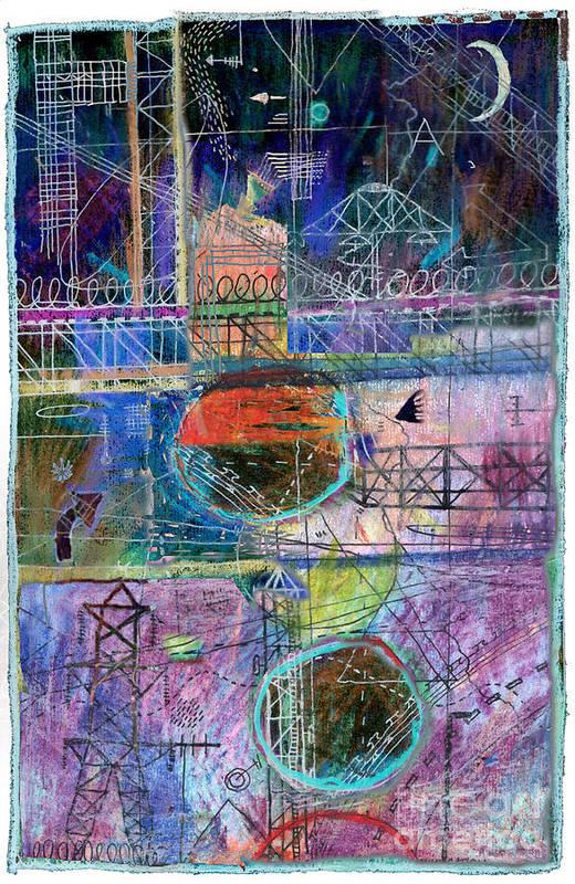 Urban Art Print featuring the digital art City Sunset by Andy Mercer