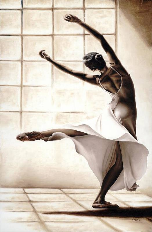 Dancer Print featuring the painting Dance Finesse by Richard Young